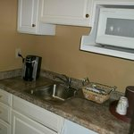 our wet bar area with keurig