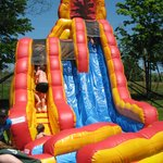 one of the inflatable water slides
