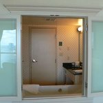 Bathroom in both Jr. & Presidents Suites have windows that open so you can see the view.
