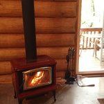 Warm and cheery wood stove
