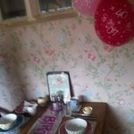  Birthday breakfast table