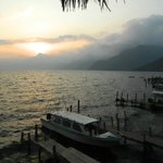 sunset on Lake Atitlan (short walk from hotel)
