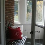  The little enclosed porch nook! Great for relaxing and reading a book!