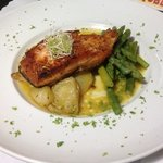 Grillled Salmon, skin was not crispy but taste was good.