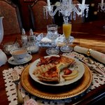 Breakfast served in elegant setting