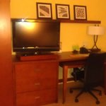 TV and desk area