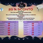  SCONTI FINO AL 31 MAGGIO