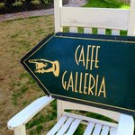 Caffe Galleria front yard rocker sign