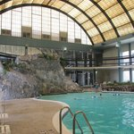 The indoor pool.