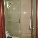 Dry bathroom with shower