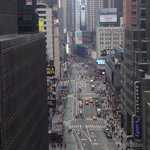Balcony view of Times Square