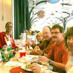 Proprietor Averill Lazard and special guests of Meals From The Heart