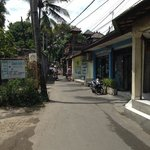 back road from hotel, leading to legian or poppies street