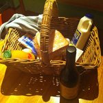Breakfast hamper and Tas wines available