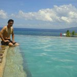 their infinity pool overlooking the beach and islet
