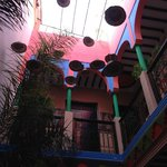 The interior of the Hostel, very funky