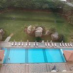  View on the pool from my room
