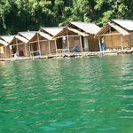 Floating bungalows, worth the visit!
