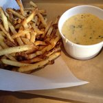  Fries with cheesy green chili dip - Pretty Good.