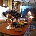  Afternoon refreshments in front of the fire