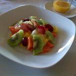 Jewel-like fresh fruit salad each morning