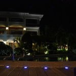 evening at pool area