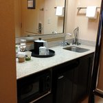 Compact yet furnished kitchenette