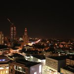  View at night from roof top terrace.