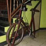  Old school exercise bike
