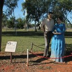  Statues of Jeannie Gunn and husband Aeneas in Mataranka