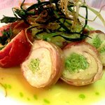 Chicken Roulade wrapped in Parma ham at Leicester's