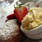 Traditional Cornish Cream Tea at Housel Bay