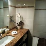 Hotel Burgevin Bathroom with great shower