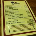  The menu