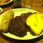  My 20z ribeye and baked potato