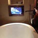 watching tv in the bath