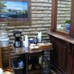 coffee bar in the lobby also, in addition to coffee pot in each room