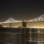 The Bay Bridge, downtown San Francisco