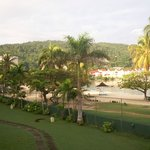 View of beach area from balcony