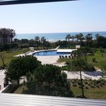 Pool and  ocean view from room 211