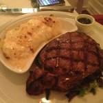Ribeye with yuca mash