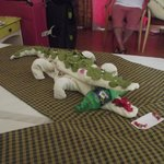 Fantastic Crocodile Towel Art