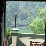  View of lake from inside the room
