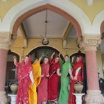 The ladies in their Saris