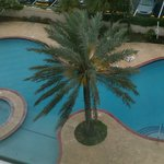 View of pool and jucuzzi from our 6th floor Jr. Suite