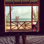  From your bed in the bungalow
