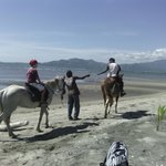  We booked beach horse riding for the kids