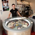  Josh and our rotating Ice cream cabinet