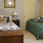 2nd bedroom with double and twin beds