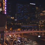  View from room - Bally&#39;s/Paris on left, Cosompolitan straight ahead, Bellagio  is on right